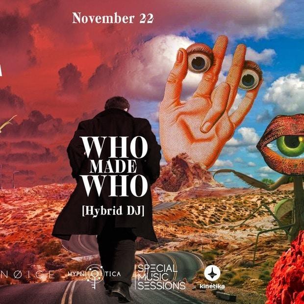 Концерт WhoMadeWho (Hybrid DJ), Москва, 22 ноября 2019